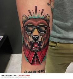 Resultado de imagem para traditional tattoo brown bear