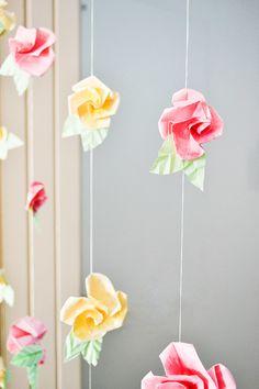 DIY Origami Flower Roses