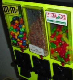Mike and Ike, M and Nuts - Triple Head vending machine.