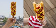 "If you've ever wandered the streets of Seoul, you may have seen corn dogs coated in French fries. We ""veganized"" it, and you definitely need to try it."