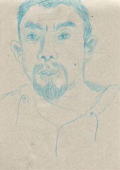 Illustration. Portrait. Sketchbook. Blue pencil. India Toctli. Illustration, Pencil, Portrait, Blue, Art, Indian Illustration, Sketch Books, Blue Nails, Illustrations