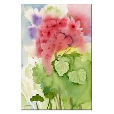 Have to have it. Pink Geranium Canvas Art by Sheila Golden - $28.01 @hayneedle