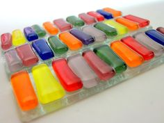 Barras de vidro coloridas para decoração de trabalhos artísticos e artesanais. <br>Pcte com 3 barrinhas.