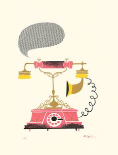 telephone illustration by lab partners