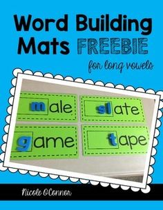 30 different word building mats for using with magnetic letters. 6 mats for each vowel! There is also a recording sheet to go with each vowel. Perfect for word work or literacy centers! Word Work Centers, Reading Centers, Literacy Centers, Phonics Words, Spelling Words, Reading Words, Kindergarten Literacy, Preschool, Reading Specialist
