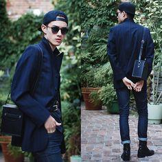 H&M Cap, Zana Bayne Leather Harness, Cheap Monday Jeans, Vintage Bag