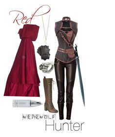 """Red Riding Hood: Werewolf Hunter"" by aliciawiseman ❤ liked on Polyvore featuring Balmain, Nine West, S.W.O.R.D., MICHAEL Michael Kors, Calibro 12 and Minor Obsessions"