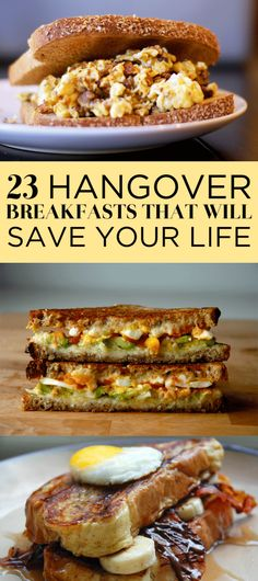 23 Breakfasts That Might Actually Save Your Life So you had a big night last night! And now you want to die. But this egg sandwich? This sandwich wants you to LIVE. Courtesy of Buzzfeed 1. The Ultimate Egg-In-A-Hole Hangover Burger   iamafoodblog.com True beauty. Get the recipe. 2. Onion Ring Fried Eggs   bsinthekitchen.com True …