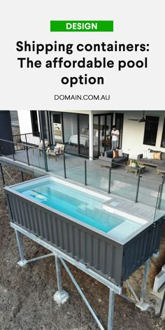 Shipping Container Swimming Pool, Shipping Container Homes, Shipping Containers, Home Bar Designs, Pool Designs, Casas Containers, Concrete Pool, Fiberglass Pools, Shed Homes