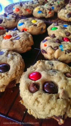 Soft JUMBO Peanut Butter Cookies {PB M&Ms, Milk Chocolate Chips & Reese Cups Allowed!} | The Baking ChocolaTess