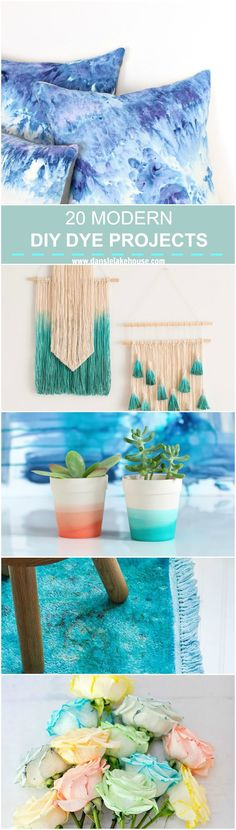 DIY Dye Projects Ideas - 20 Modern DIY Projects to Dye For.  How to Dye Anything!   @danslelakehouse