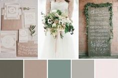 Beautiful green and taupe winter color scheme
