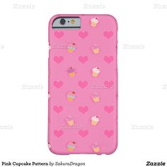 Pink Cupcake Pattern Barely There iPhone 6 Case #pink #food #cupcakes #dessert #sweet