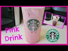YouTube Starbucks Pink Drink Recipe, Pink Drink Recipes, Pink Starbucks, Pink Drinks, Hot Coffee, Coffee Cups, Fruit, Youtube, Food