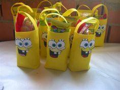Cumple Bob esponja  de Jorge Spongebob, Bobs, Paper Shopping Bag, Minions, Birthday Parties, Party, Tote Bags, Fiestas, Amor