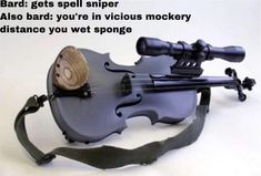 Item: violin with a sniper scope; allows Bards to double the distance of their spells while limiting them to a single target. Best Memes, Funny Memes, Hilarious, Dnd Funny, Dungeons And Dragons Memes, Dragon Memes, Kalimba, D House, Fandoms