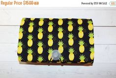 Sale  pineapples COUPON  Organizer  Holder  Keeper  gift Coupon clipping / fabric / patterned / holders / budget / inserts / grocery / receipt files / folder / gifts