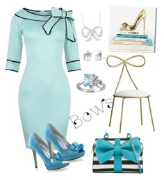 """""""Retro Bows🎀"""" by parnett ❤ liked on Polyvore featuring Roberto Coin, Fabulicious, Betsey Johnson, Laura Ashley, Oliver Gal Artist Co. and PBteen"""