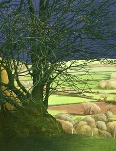 British Artist Annie Ovenden-View From The Hill
