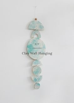 you've seen me make a lot of things with polymer clay, and i've already made a clay wall hanging — but i decided to make a new and improved one for the bathroom. i knew i wanted t…