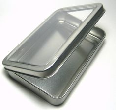 Blank Clear Lid Metal Tin Box Survival Kit Container #1   Sporting Goods, Outdoor Sports, Camping & Hiking   eBay!