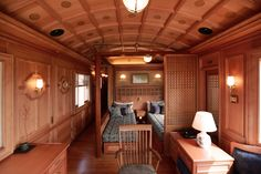 Cosy Guest Room on Cruise Train Seven Stars in Kyushu, Japan. Oasis, Japan Train, Night Bus, High Speed Rail, Rail Car, Kyushu, By Train, Comfortable Sofa, Hotels And Resorts
