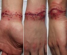 """Amazing 3D tattoo  """"A wound cannot heal, unless you leave it alone, I'll open mine daily leaving bones exposed"""""""