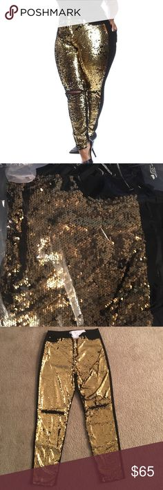 Women's Sequins Stretch Jeans 98% Cotton 2% Spandex women's Black Sequins Jeans w/ripped knee.. Sizes 1XL - 3XL.. True to size!! Jeans Skinny