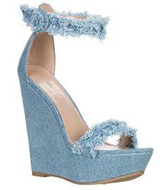 930b1700efec Breckelles Women s Open Toe Ankle Strap Platform Wedge Sandals