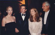 Carolyn Bessette, JFK Jr., Caroline Kennedy, and Ed Schlossberg.