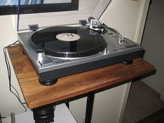 Seriously nice vinyl record stand with a shelf for the