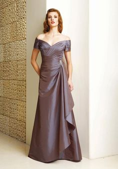 Dreamlike Purple Off the Shoulder Ruched Beading Floor Length Satin Mother of Groom Dresses ,Mother of Bride Dresses,