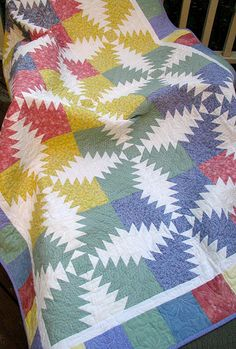 Pineapple Quilt by Jackie-Quilts!, via Flickr