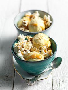 Glace d'hiver au popcorn & caramel salé