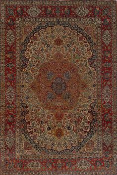 Matt Camron Rugs & Tapestries - Antique Collection - Antique Persian Esfahan Rug - 10495HA