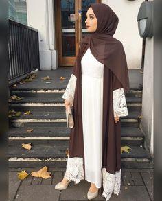 Pinterest: @adarkurdish Islamic Fashion, Muslim Fashion, Modest Fashion, Street Hijab Fashion, Abaya Fashion, Muslim Dress, Hijab Dress, Eid Outfits, Fashion Outfits