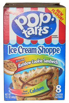 Kellogg's Ice Cream Shoppe Frosted Rainbow Cookie Sandwich. These are the best Pop Tarts I have ever tried and I don't even think they sell them anymore :(