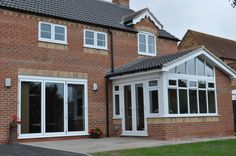 Porch Extension, House Extension Plans, House Extension Design, Extension Designs, Extension Ideas, Garden Room Extensions, Kitchen Extensions, House Extensions, Modern Conservatory