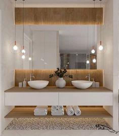 Łazienka duza - Lilly is Love Bathroom Design Inspiration, Bad Inspiration, Bathroom Design Luxury, Modern Bathroom Design, Toilet Design, Minimalist Bathroom, Bathroom Furniture, Interior Design Living Room, Bathrooms