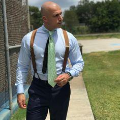 Bald Men Style, Mens Braces, Braces Suspenders, Gay Pride, Mens Suits, Dapper, Religion, Menswear, Social Media