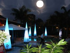 Towair by Airstar - Cone shape Full Moon, Moonlight, Party Party, Party Ideas, Balloons, Environment, Ocean, Exterior, Lights