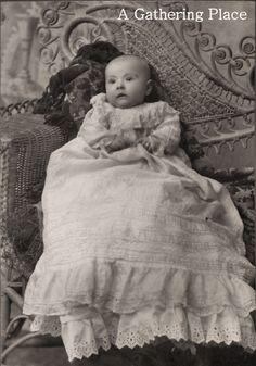 Vintage Baby Photo From Nebraska Museum