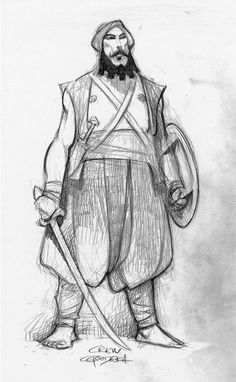 Carter Goodrich - Sinbad: Legend of the Seven Seas - Character Design - Dreamworks animation Character Design Animation, Character Design References, Character Drawing, Character Illustration, Comic Character, Character Sketches, Character Concept, Cartoon Drawings, Drawing Sketches