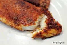 Oven fried tilapia -- Spice rub would be goo don other meats as well Fish Dishes, Seafood Dishes, Seafood Recipes, Cooking Recipes, Healthy Recipes, Top Recipes, Main Dishes, Weeknight Recipes, Cooking Tips