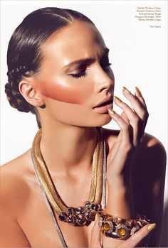 A Gold Beauty Editorial From Volt Cafe 7