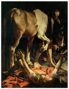 Caravaggio, Conversion of St. Paul, Cerasi Chapel, S. Maria del Popolo, Rome, 1601