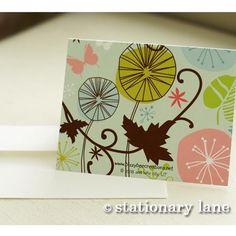 10 retro note cards plus envelopes by stationarylane