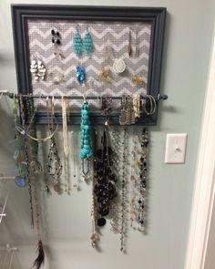 100 diy jewelry organizers storage ideas full tutorials diy custom framed jewelry organizer jewelry holder by raftscrafts on etsy httpswww solutioingenieria Choice Image