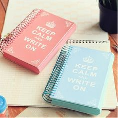 Keep-Calm-400p-Cute-Notebook-Blank-Pocket-Diary-Planner-Colored-Sketchbook