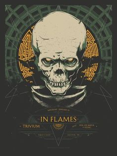 """TRIVIUM POSTER PRINT HEAVY METAL GROUP MUSIC LIVE ON STAGE 24/""""X36/"""" NEW"""